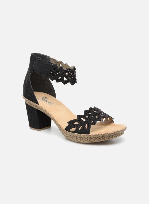 Sandales et nu-pieds Rieker Killa Noir vue détail/paire