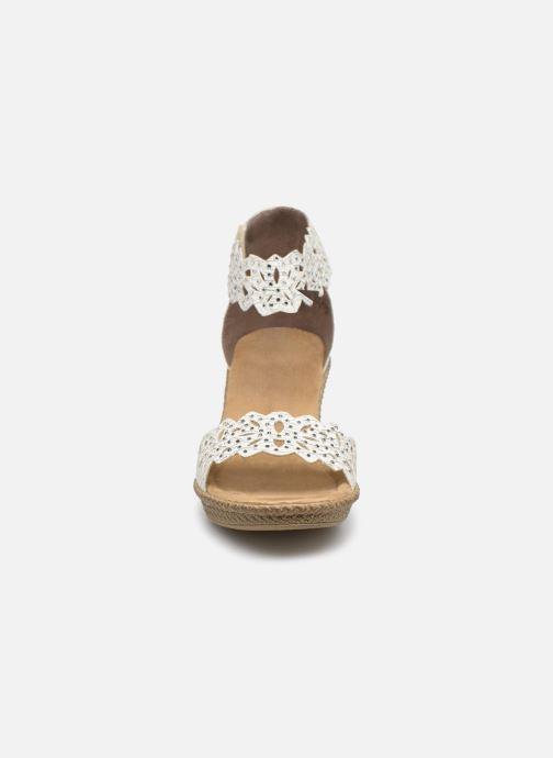 Sandales et nu-pieds Rieker Killa Blanc vue portées chaussures