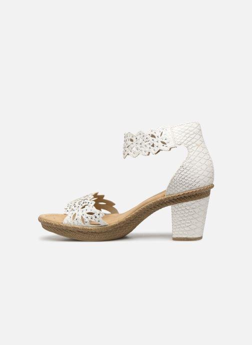 Sandales et nu-pieds Rieker Killa 66555 Blanc vue face