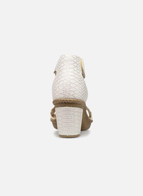 Sandales et nu-pieds Rieker Killa Blanc vue droite