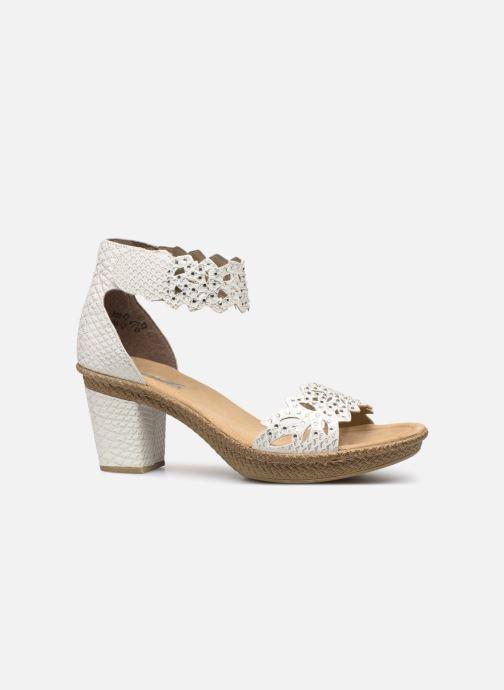 Sandales et nu-pieds Rieker Killa Blanc vue derrière