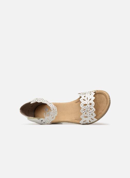 Sandales et nu-pieds Rieker Killa 66555 Blanc vue gauche