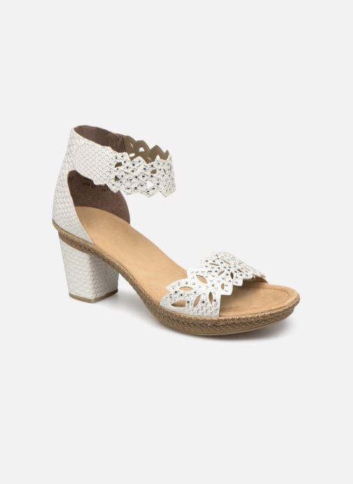 Sandales et nu-pieds Rieker Killa 66555 Blanc vue détail/paire