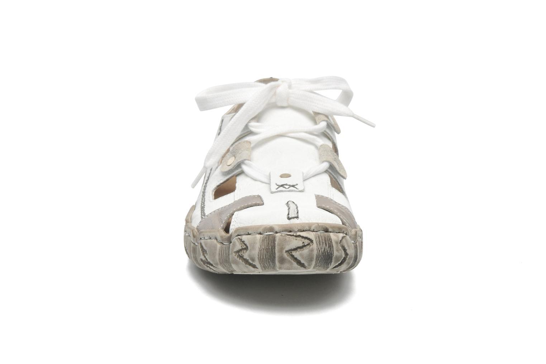 Baskets Rieker Clink 0325 Blanc vue portées chaussures