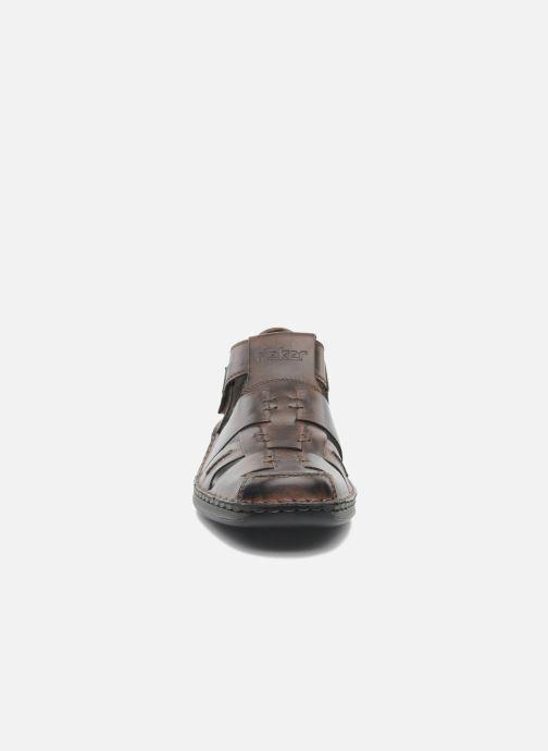 Sandales et nu-pieds Rieker Barry Marron vue portées chaussures