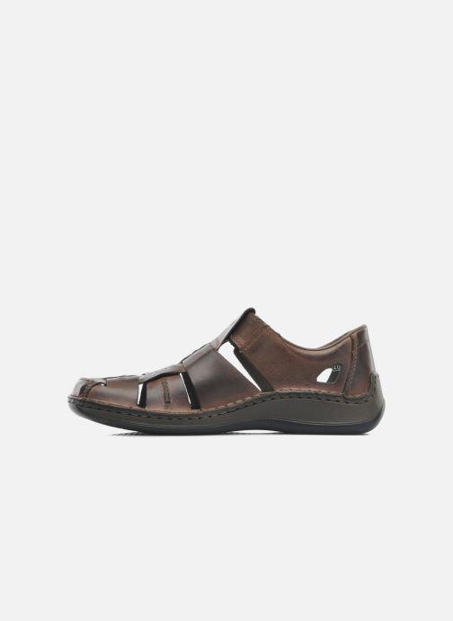Sandales et nu-pieds Rieker Barry Marron vue face