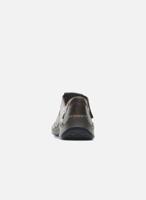 Sandales et nu-pieds Rieker Barry Marron vue droite
