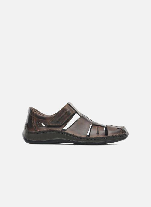 Sandales et nu-pieds Rieker Barry Marron vue derrière