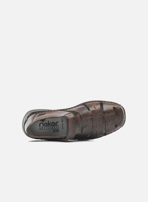 Sandali e scarpe aperte Rieker Barry Marrone immagine sinistra