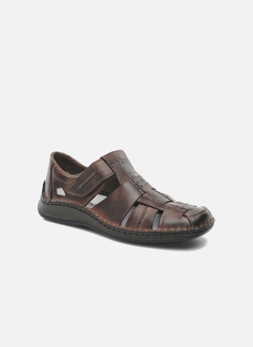 Sandales et nu-pieds Rieker Barry Marron vue détail/paire