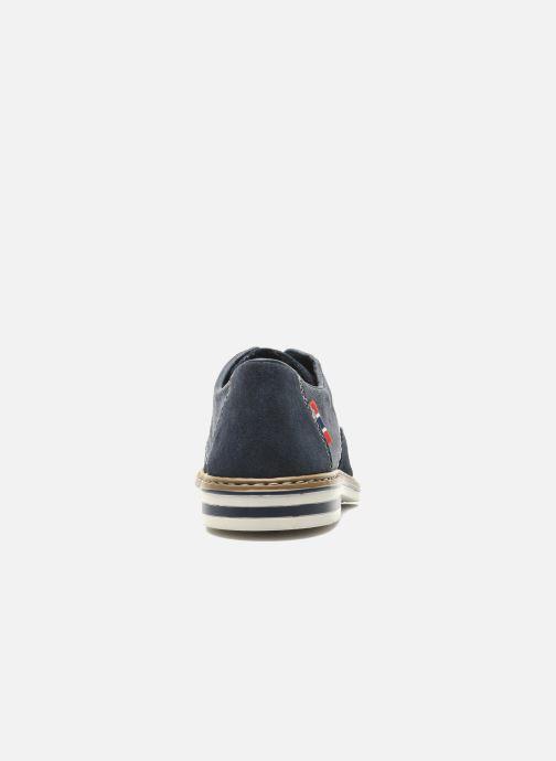 Chaussures à lacets Rieker Venel 1402 Bleu vue droite