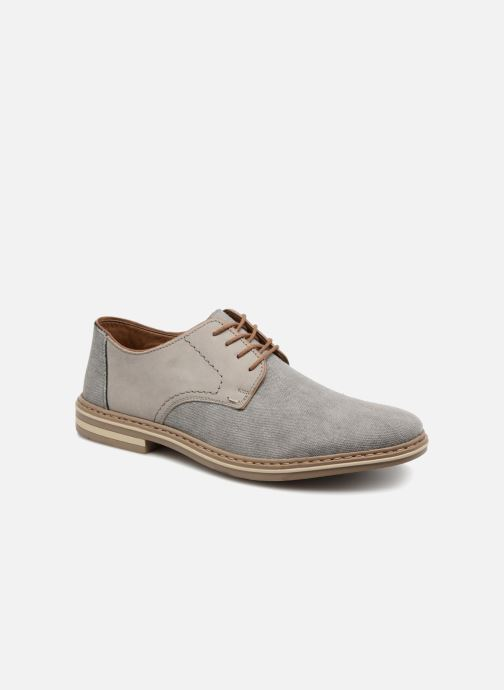 Lace-up shoes Rieker Brutus 1422 Grey detailed view/ Pair view