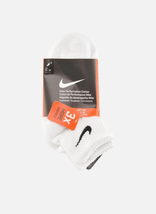 Chaussettes et collants Nike Chaussettes Nike Cushion Quarter 3PR Blanc vue derrière