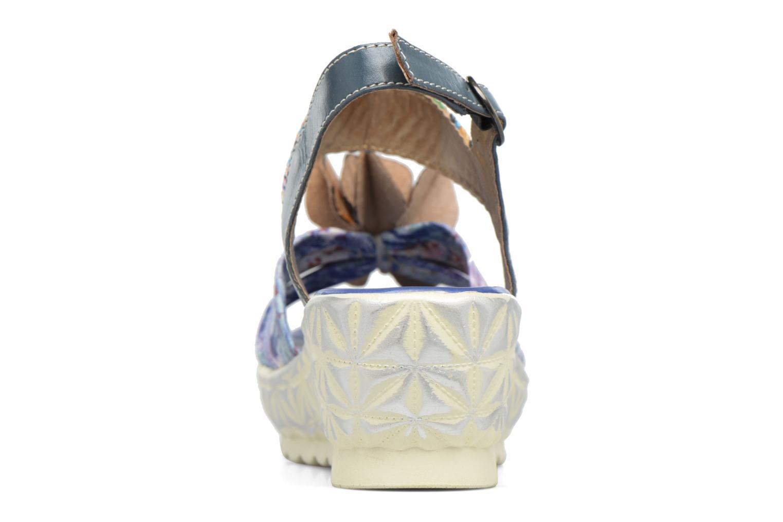 Sandales et nu-pieds Laura Vita Sidi Bleu vue droite