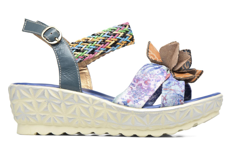 Sandales et nu-pieds Laura Vita Sidi Bleu vue derrière