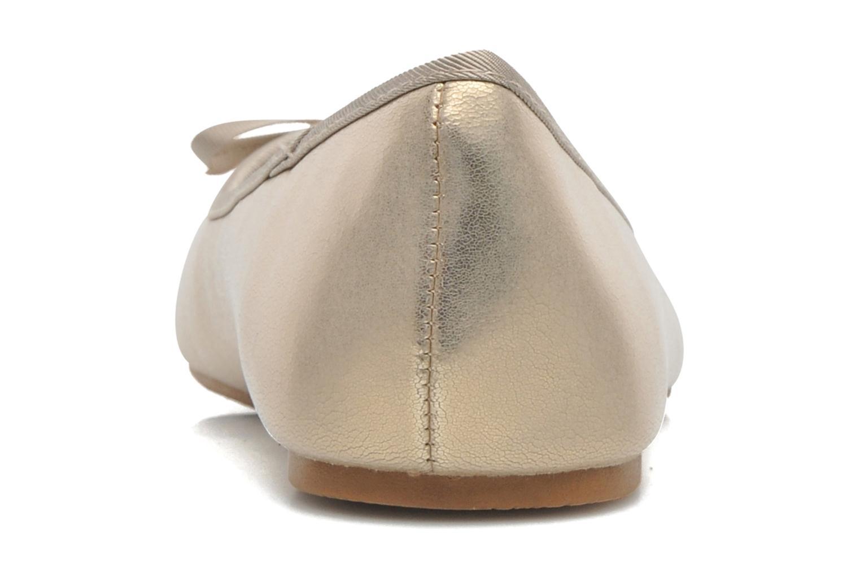 Ballerines Elizabeth Stuart Castel 691 Or et bronze vue droite