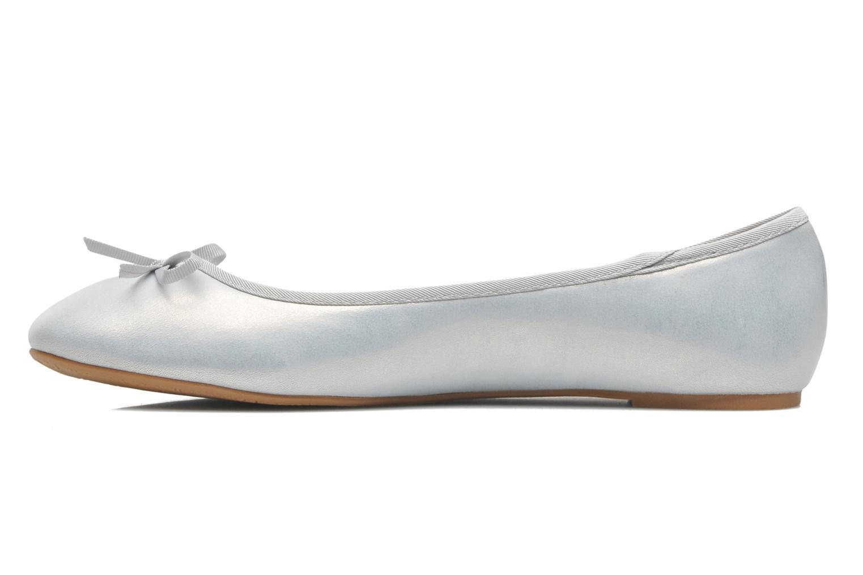 Bailarinas Elizabeth Stuart Castel 691 Plateado vista de frente