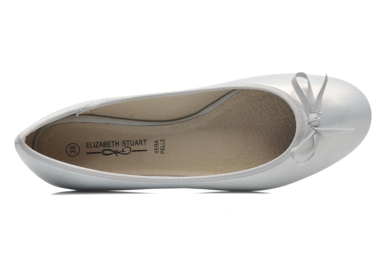 Bailarinas Elizabeth Stuart Castel 691 Plateado vista lateral izquierda