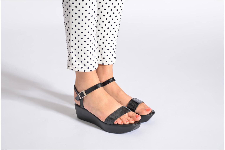 Sandales et nu-pieds Elizabeth Stuart Villa 671 Gris vue bas / vue portée sac