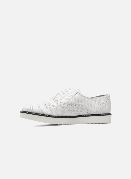 Chaussures à lacets Ippon Vintage Andy perfo Blanc vue face