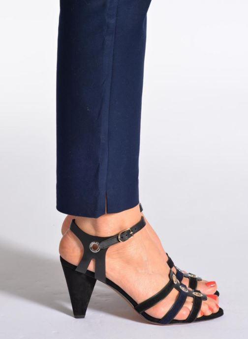 Sandalen Sonia Rykiel Fide schwarz ansicht von unten / tasche getragen