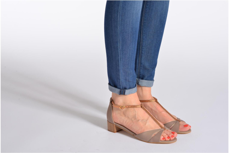 Sandales et nu-pieds Mellow Yellow Selfish Beige vue bas / vue portée sac