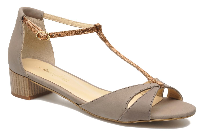 Sandales et nu-pieds Mellow Yellow Selfish Beige vue détail/paire