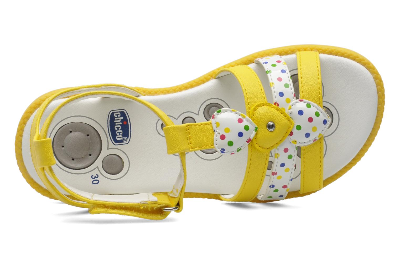Sandales et nu-pieds Chicco Cristine Jaune vue gauche