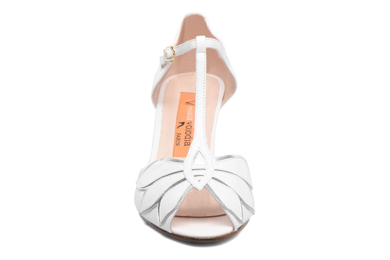 Escarpins Anna Volodia Mama Blanc vue portées chaussures