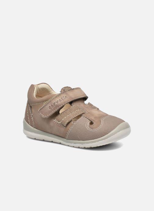 Velcro shoes Garvalin César Grey detailed view/ Pair view