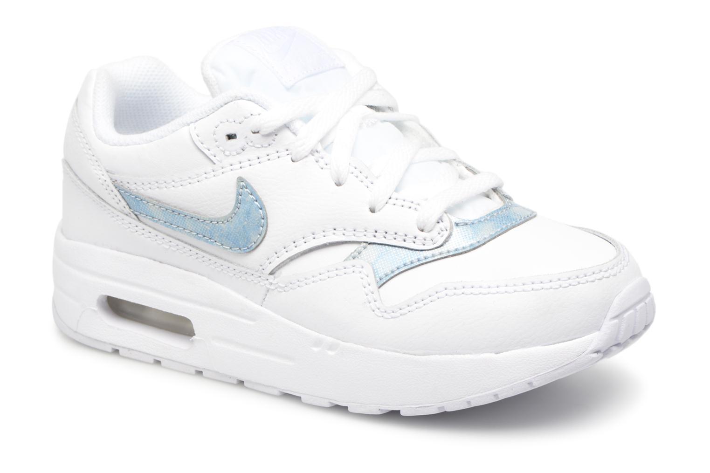 Baskets Nike Nike Air Max 1 (Ps) Blanc vue détail/paire