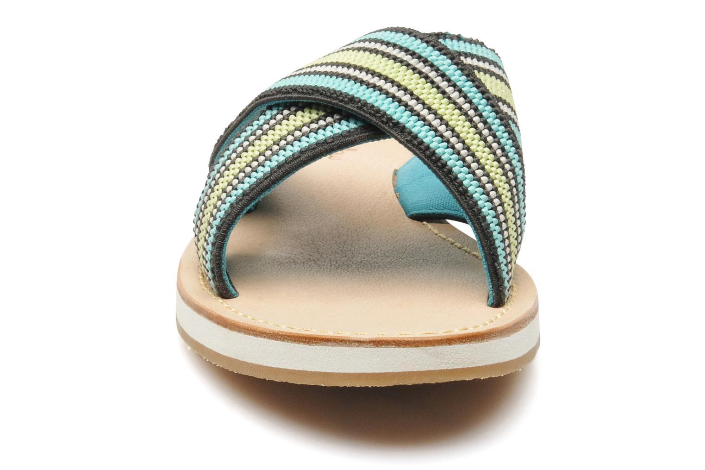 Mules et sabots Mellow Yellow Satine Multicolore vue portées chaussures