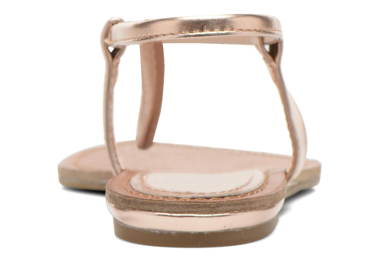 Sandales et nu-pieds Steve Madden Hamil Or et bronze vue droite