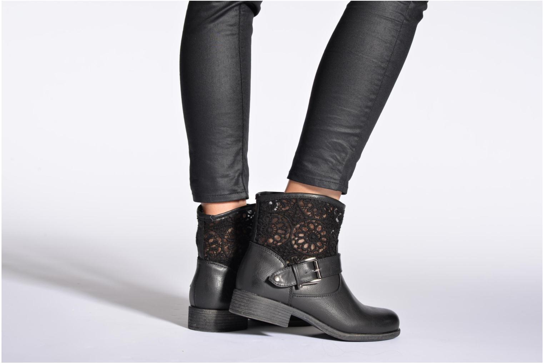 Bottines et boots I Love Shoes Thivu Noir vue bas / vue portée sac
