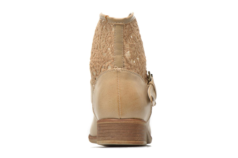 Botines  I Love Shoes Thivu Beige vista lateral derecha