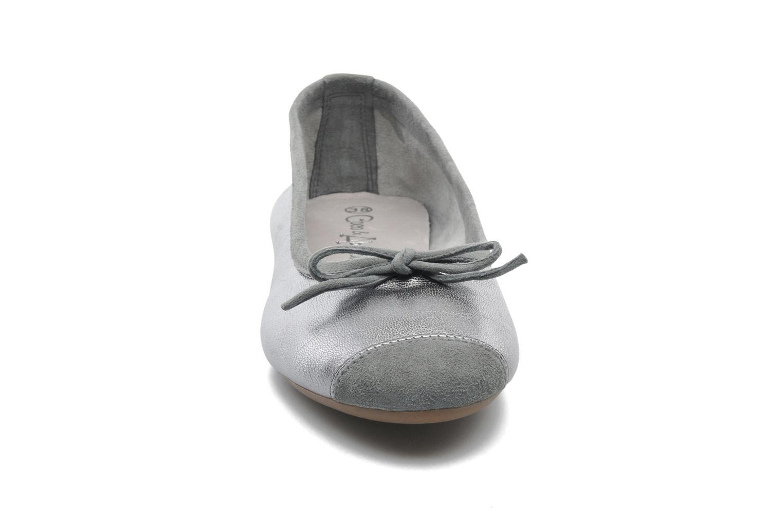 Ballerines Coco et abricot Belline Argent vue portées chaussures