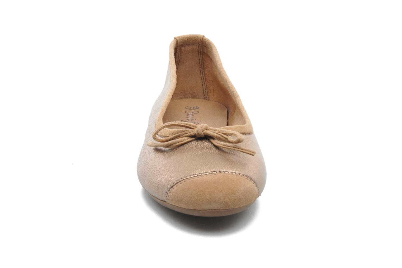 Ballet pumps Coco et abricot Belline Bronze and Gold model view