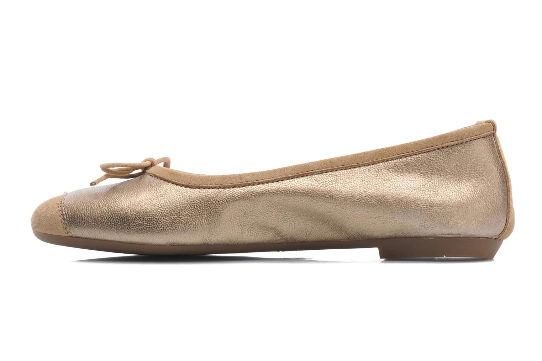 Ballet pumps Coco et abricot Belline Bronze and Gold front view
