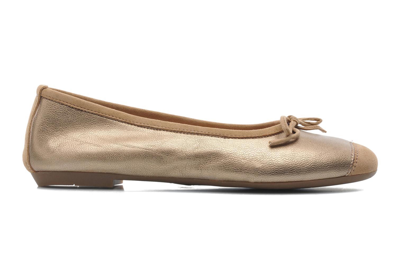 Ballet pumps Coco et abricot Belline Bronze and Gold back view