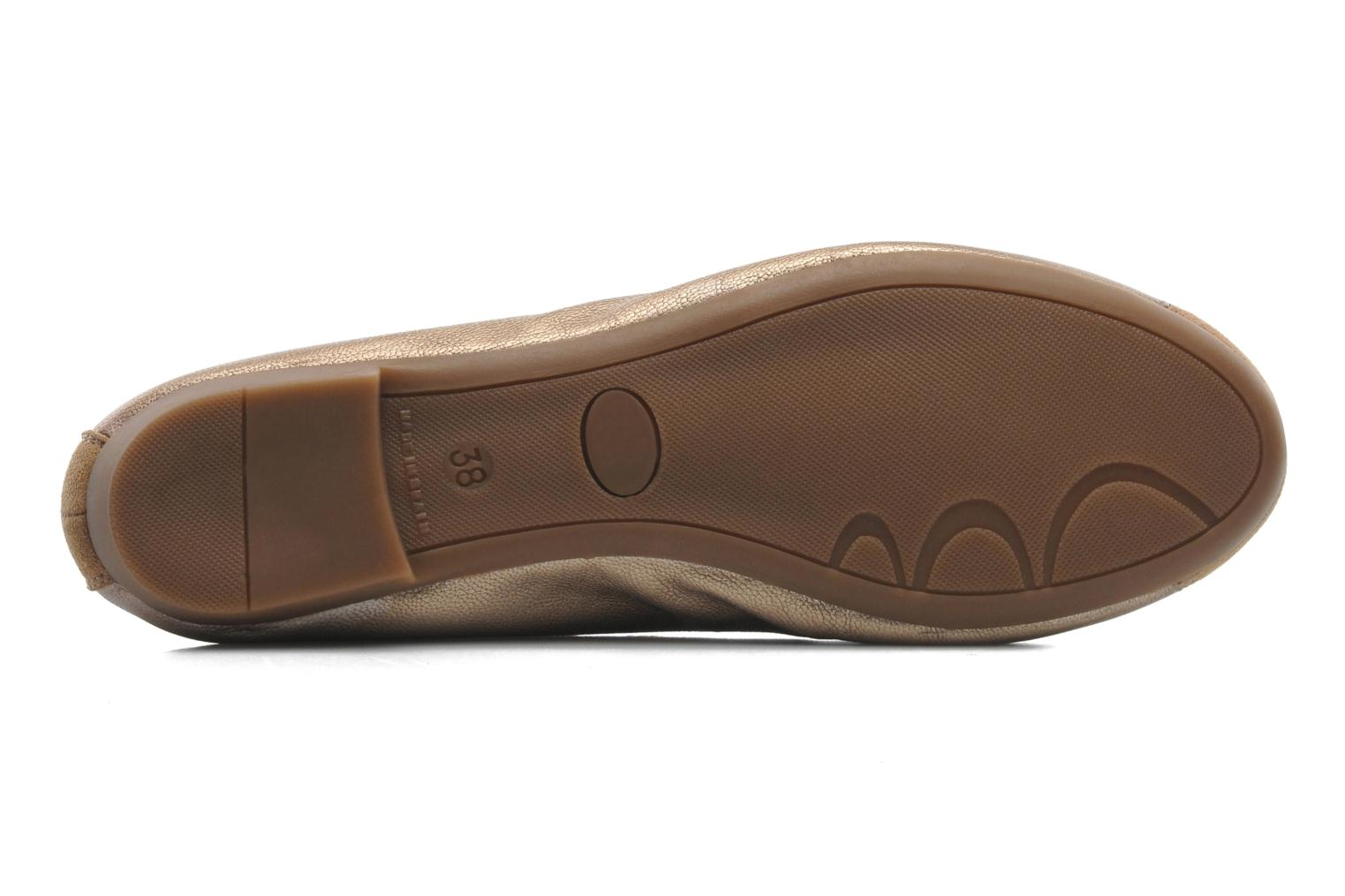 Ballet pumps Coco et abricot Belline Bronze and Gold view from above