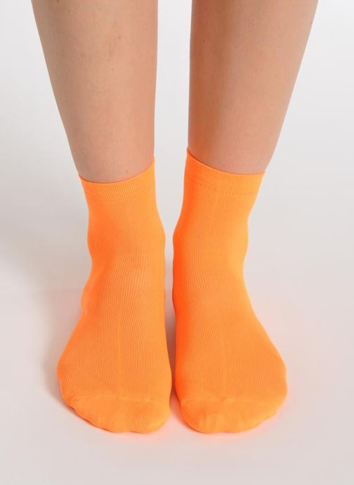 Socks & tights My Lovely Socks Romane Fluo Orange view from underneath / model view