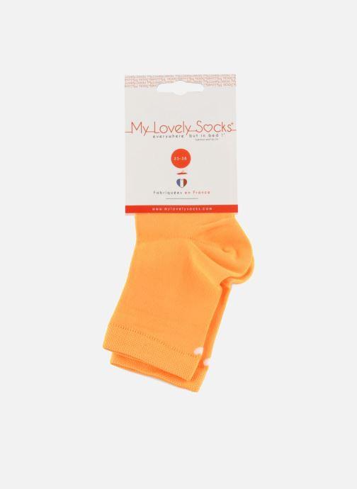 Chaussettes et collants My Lovely Socks Romane Fluo Orange vue derrière