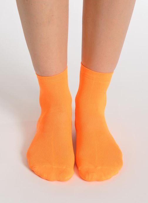 Socks & tights My Lovely Socks Romane Fluo Orange view from above