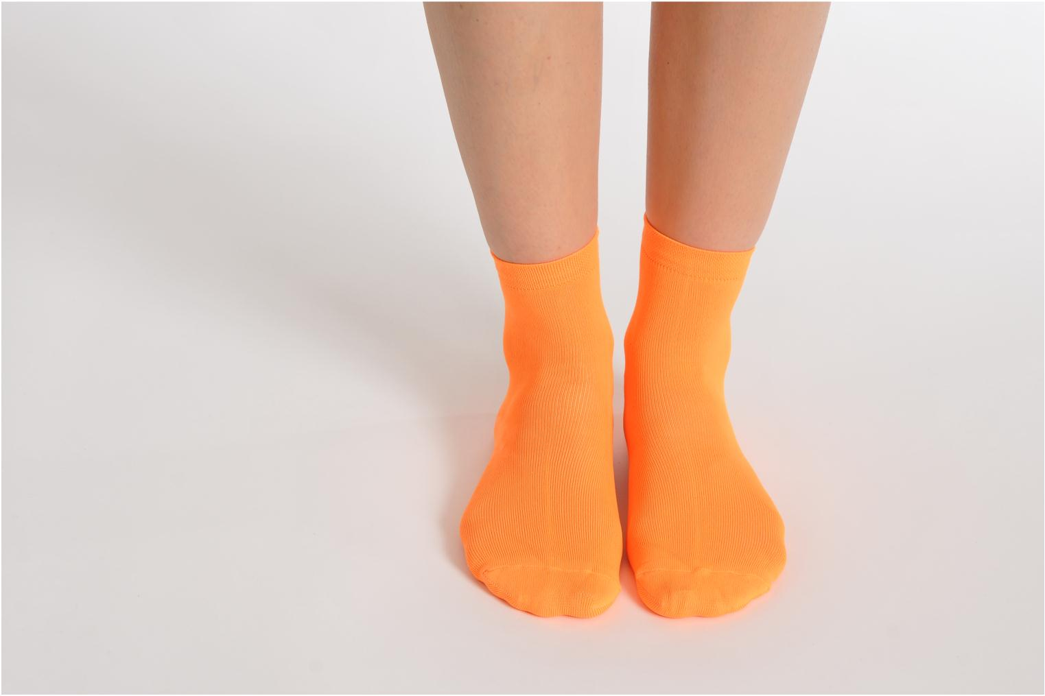 Chaussettes et collants My Lovely Socks Romane Fluo Orange vue bas / vue portée sac