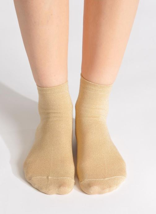 Socks & tights My Lovely Socks Jo Bronze and Gold view from underneath / model view