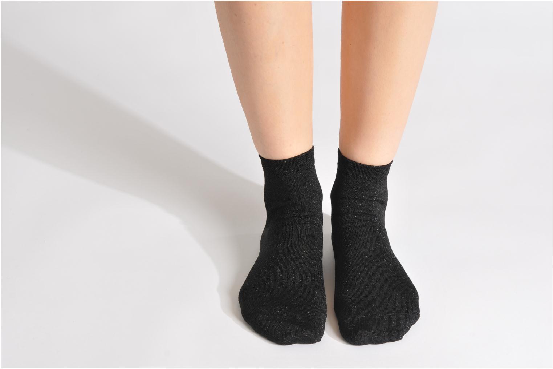 Chaussettes et collants My Lovely Socks Jo Noir vue bas / vue portée sac