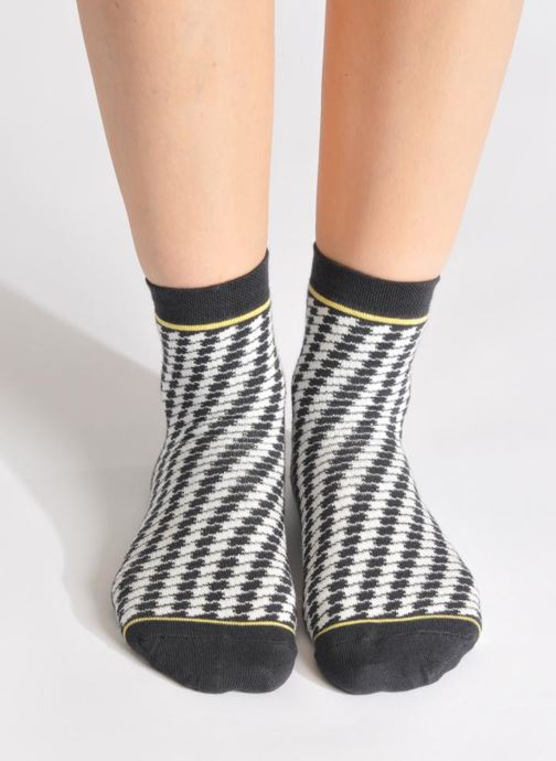 Chaussettes et collants My Lovely Socks Zoe Noir vue bas / vue portée sac