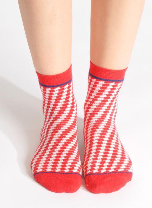 Chaussettes et collants My Lovely Socks Zoe Rouge vue bas / vue portée sac