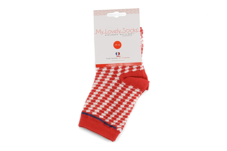 Chaussettes et collants My Lovely Socks Zoe Rouge vue derrière