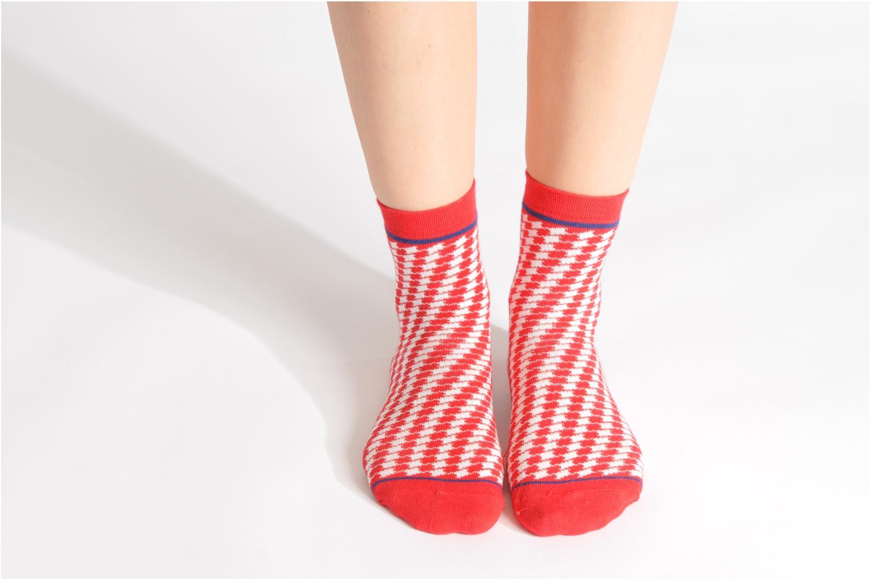 Chaussettes et collants My Lovely Socks Zoe Rouge vue haut